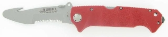Boker Jim Wagner Rescue Knife, Red FRN Handle, ComboEdge