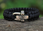 Survival Straps ParaCord Bracelet with Adjustable SS Shackle