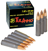Tula 7.62x39mm 122gr FMJ - Steel Case - 640 rd Tin