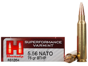 Hornady 5.56x45mm NATO 75 gr BTHP SPF Match - 20 rd Box