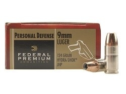 Federal Premium Personal Defense Hydra Shok 9mm 124gr - 20 rds