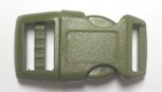 "5/8"" Plastic (16mm), Contoured Side-Release - OD Green - 10 pack"