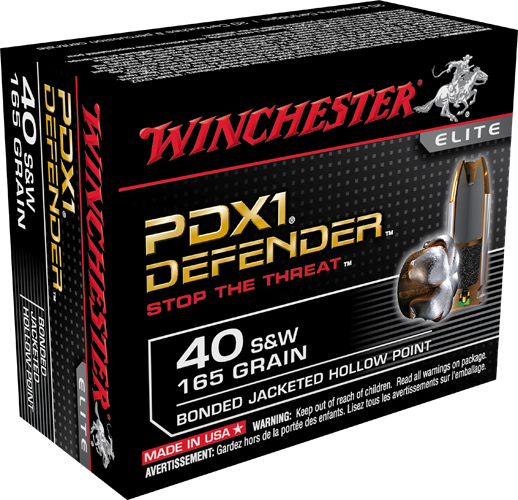 Winchester .40 S&W 180gr Bonded JHP - 50 rd box